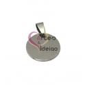Pendente Aço Inox Medalha Lisa - Prateado (20mm)