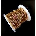 Corrente Aço Inox Elo Redondo Fechado (4mm) - Dourado [1metro]