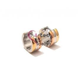 Brincos Aço Argolas de 15 mm - 3 Cores (Modelo Liso)