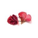 Pack de 2 Florinhas com Campanula Dourada - Rosa Cereja (25mm)