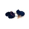 Pack de 2 Florinhas com Campanula Dourada - Azul Escuro (25mm)