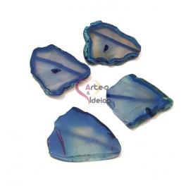 Pedra Semi-Preciosa Ágata Translucida - Azul Escuro (aprox.40 a 50mm)