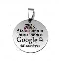 Pendente Aço Inox Filho Fixe (Google) - Prateado (25mm)