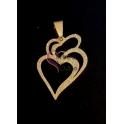 Pendente Aço Inox Frost Coração de Viana - Dourado (32x24mm)