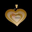 Pendente Aço Inox Coração Multi - Dourado (32mm)