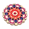 Pendente Madeira Mandalla Flor - Modelo 5