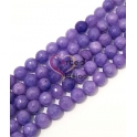 Fiada de Pedras Semi-Preciosas Violeta (8 mm) - [48 unds]