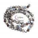 Fiada de Cubic Hematites - Prateado (4mm) - [72unds]