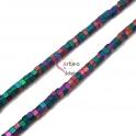 Fiada de Roscas Hematites - Cores Mate (6x3mm) - [136unds]
