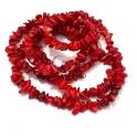 Fiada de Pedras Cascalho Coral Vermelho - [85cm]