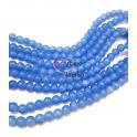 Fiada de Contas Acrílicas - Azul Celeste Tranluscido (8mm) - [aprox.100unds]