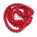Fiada de Contas Acrílicas - Vermelho Cereja Mesclado (8mm) - [aprox.100unds]