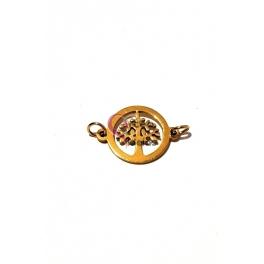 Conector Aço Inox Árvore da Vida - Dourado