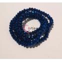 Fiada Contas de Cristal Facetadas - Azul Metalizado (4mm) - [aprox.150unds]