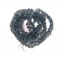 Fiada Contas de Cristal Facetadas - Azul Ganga Transp. (4mm)
