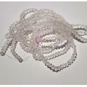 Fiada Contas de Cristal Facetadas - Transparente (4mm)