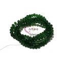 Fiada Contas de Cristal Facetadas - Verde Escuro Transp. (4mm) - [aprox.150unds]