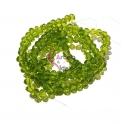 Fiada Contas de Cristal Facetadas - Verde Transp. (4mm)