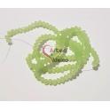 Fiada Contas de Cristal Facetadas - Verde Opalino (4mm) - [aprox.150unds]