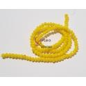 Fiada Contas de Cristal Facetadas - Amarelo Opaco (4mm) - [aprox.150unds]