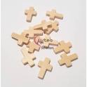 Pack Pendentes Cruzes de Madeira - Creme (22x15) - [12unds]