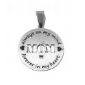 Pendente Aço Inox Mom - Prateado (25mm)