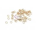 Argolas Aço Inox 3mm - Douradas (Aprox 40und)