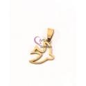 Pendente Aço Inox Andorinha - Dourado (20x15mm)