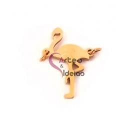 Conector Aço Inox Flamingo - Dourado