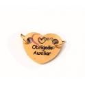 Conector Aço Inox Coração Querida Auxiliar - Dourado