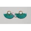 Pack de 2 Argolinhas com Mini-Pompons - Verde Azulado