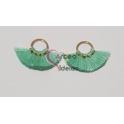 Pack de 2 Argolinhas com Mini-Pompons - Verde Claro