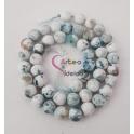 Fiada de Pedras Brancas com Mesclado Azul Acizentado (8 mm) - [48 unds]