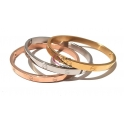 Conjutno 3 Pulseiras Aço Inox Simbolos - Prateada, Dourada e Dourada Rosa