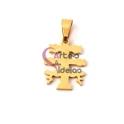 Pendente Aço Inox Cruz de Caravaca - Dourado (15x13mm)