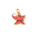 Pendente Metal Estrela do Mar Coral - Dourado (15mm)