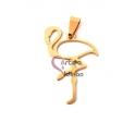 Pendente Aço Inox Flamingo - Dourado (45x30mm)