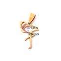 Pendente Aço Inox Flamingo - Dourado (25x17mm)
