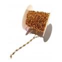 Rolo Corrente Aço Inox Elo e Bolinha (2.5) - Dourado [aprox.5metros]