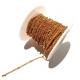 Rolo Corrente Aço Inox Malha Espalmada com Bolinhas (0.5) - Dourado
