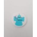 Pendente Acrílico Anjinho - Branco com Azul (25mm)