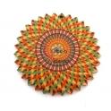 Pendente Madeira Mandalla Flor - Modelo 14