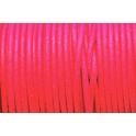 Cabedal redondo de 2 mm Fluorc. Fuchsia - 50 cm