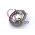 Pendente Aço Inox Aro One Perl - Prateado (20mm)