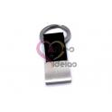 Porta-Chaves Aço Inox com Fita Preta (70x20mm) [Personalizavel] Modelo 2