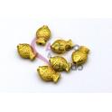 Conta Zamak Mate Peixinho (12x9mm) - Dourada