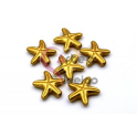Conta Zamak Mate Estrela do Mar (16mm) - Dourada