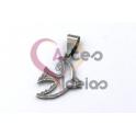 Pendente Aço Inox Andorinha - Prateado (20x15mm)