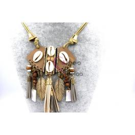 Colar Estilo Etnico [Mod F001] - Dourado