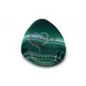 Pendente Pedra Semi-Oval Tons Verde Listado (60x40mm)